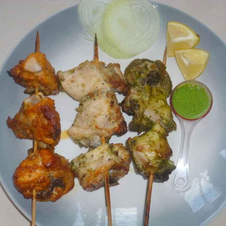 Photo of Tandoori Chicken Tikka,Malai Chicken Tikka & Hariyali Chicken Tikka by Menaga Sathia at BetterButter