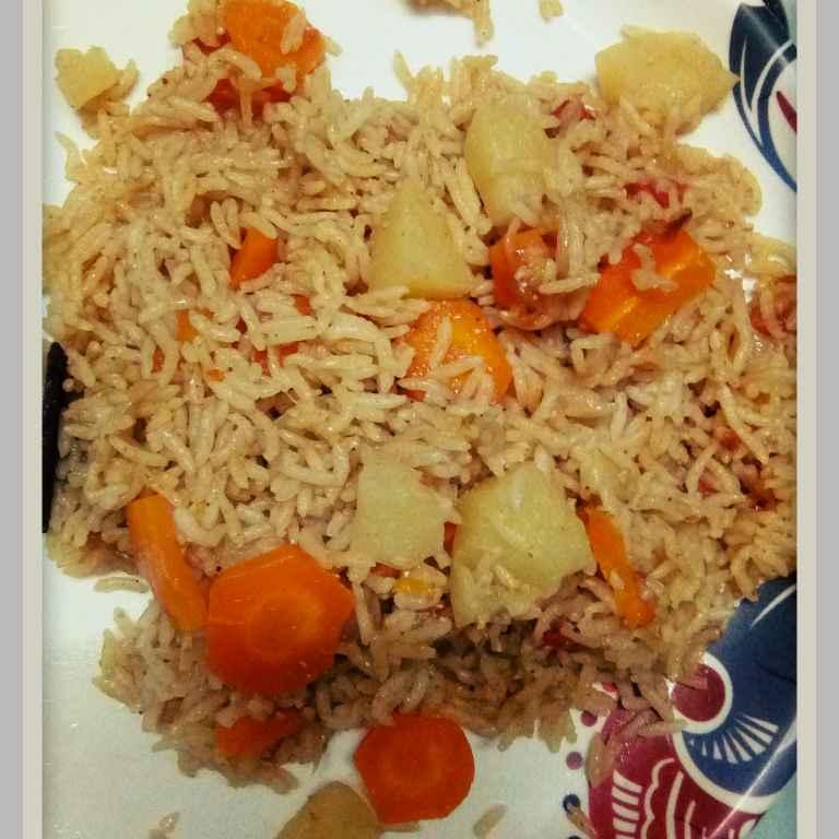 How to make Carrot Aloo Biryani for babies