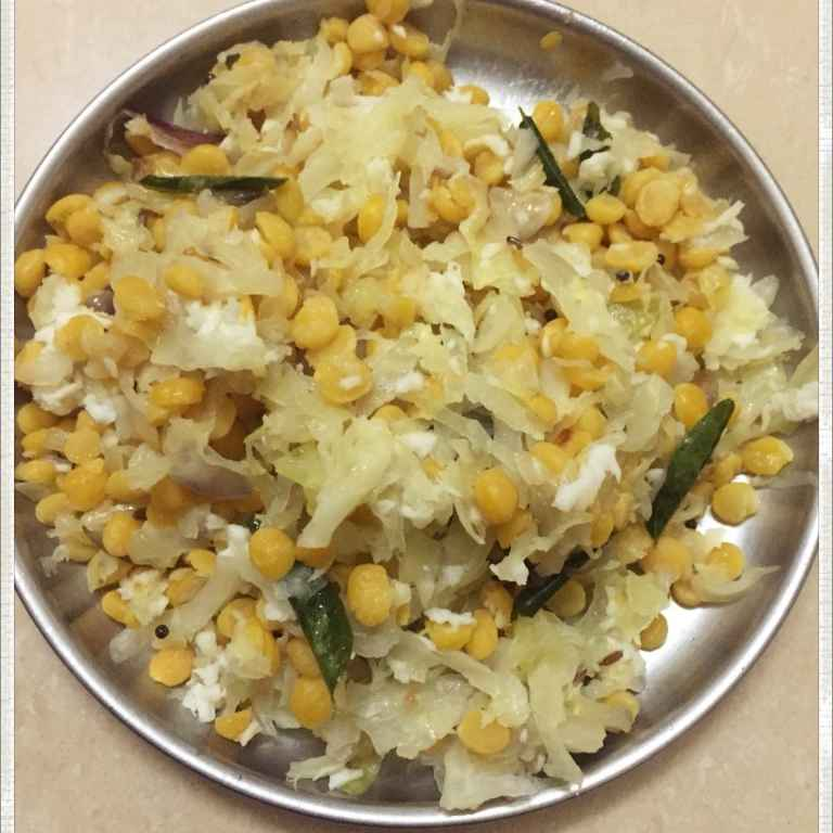 Photo of Cabbage Dal Fry by pavumidha arif at BetterButter