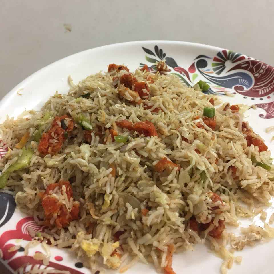 How to make Fried Chicken Egg Fried Rice