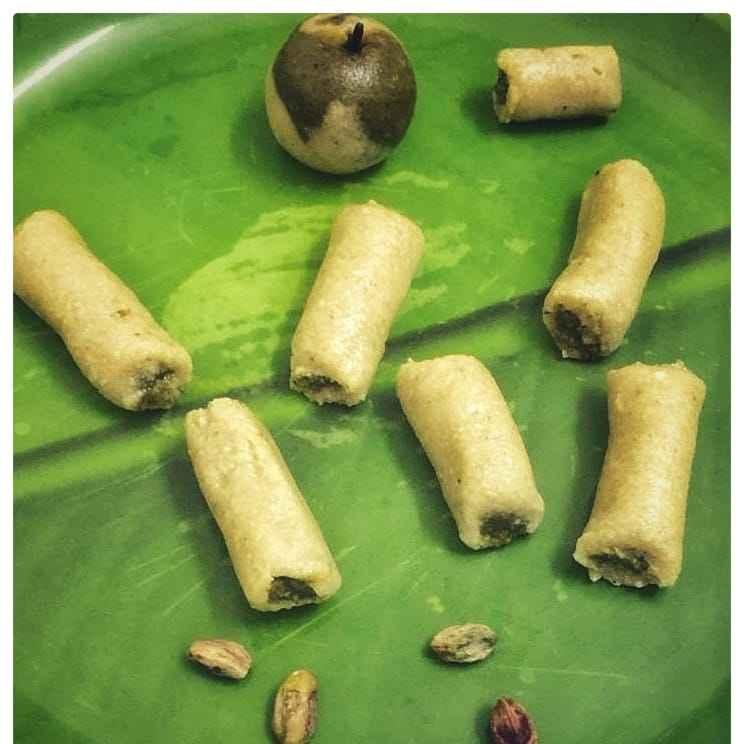 Photo of Kaju pista roll & Green apple by pavumidha arif at BetterButter