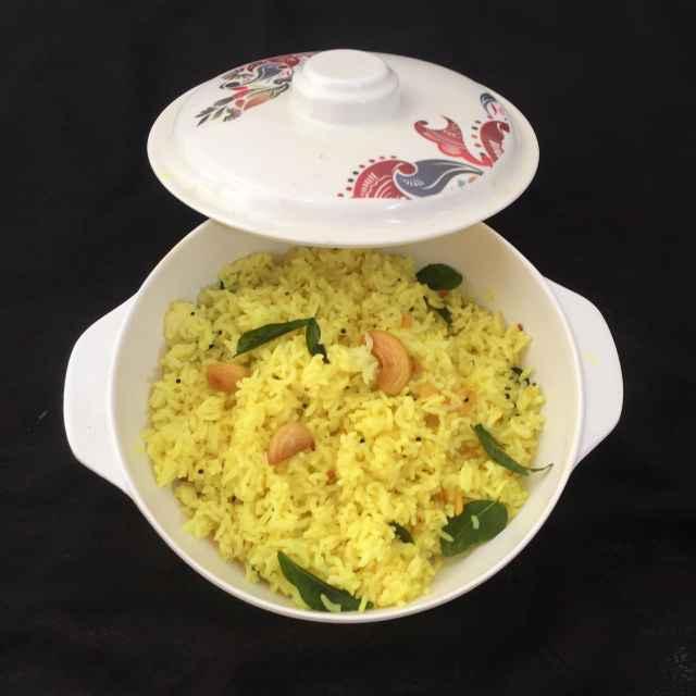 How to make Cashew lemon rice