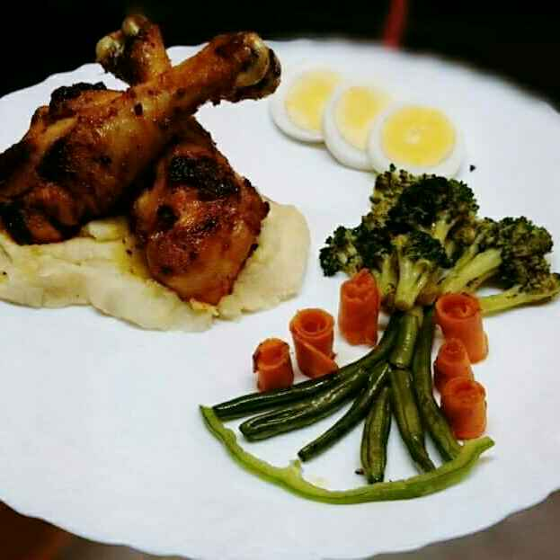 How to make Roasted Chicken with Mashed Potatoes