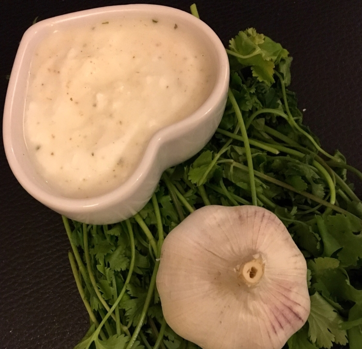 How to make garlic coriander dip