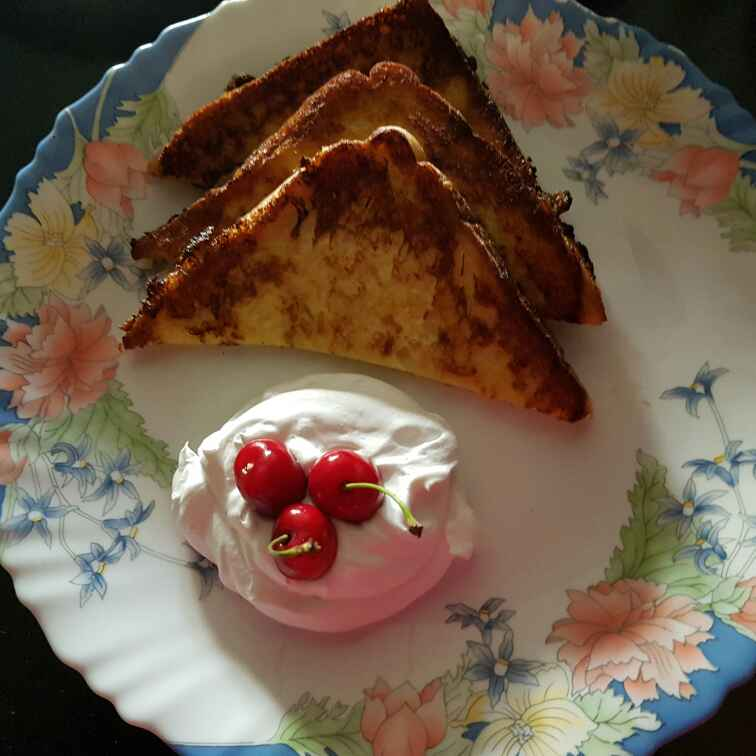 Photo of French toast  with Fresh cream by Minal Salvi at BetterButter