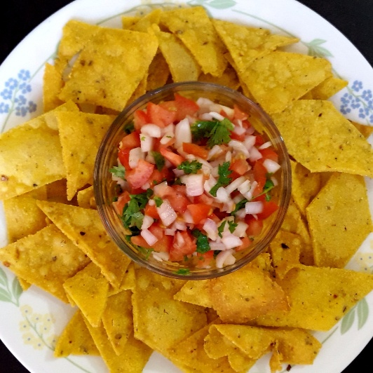 Photo of Nachos with homemade Salsa by Mini Gupta at BetterButter