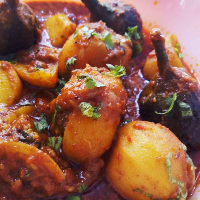Photo of Stuffed Brinjal Aloo Onion Curry by Mital Viramgama at BetterButter