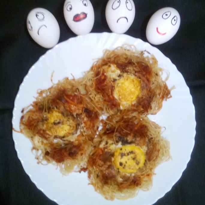 Photo of Spice egg nest by Mithai Choudhury Roy at BetterButter