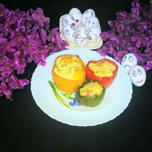 Photo of Stuffed egg bell paper by Mithai Choudhury Roy at BetterButter