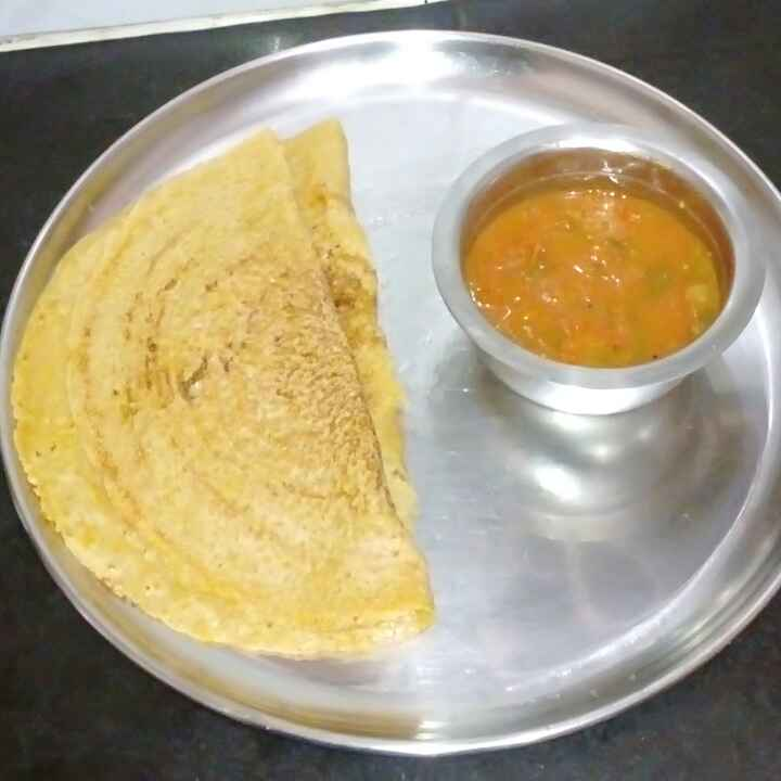 Photo of Wheat and maize thosai with tomato chutney by mithra g at BetterButter