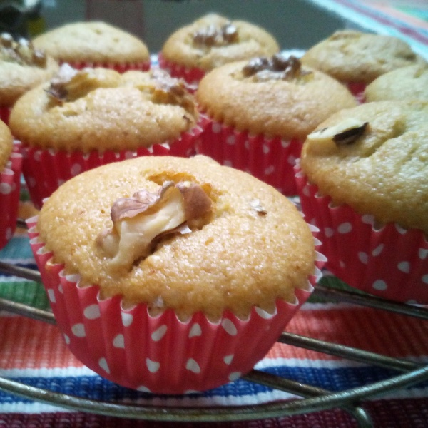 Photo of Banana Blueberry Walnut Muffins by Mitoshi Saha at BetterButter