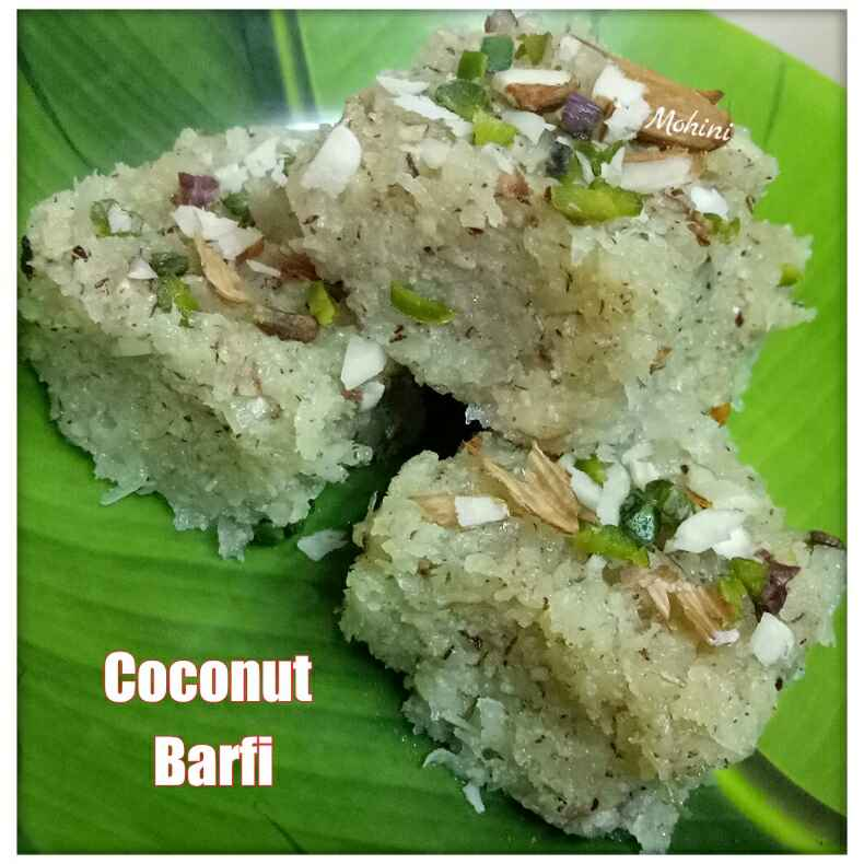 Photo of Coconut barfi by Mohini Gupta at BetterButter