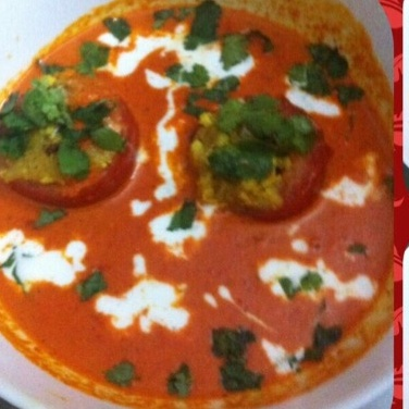 How to make Stuffed tomatoes in Makhani gravy