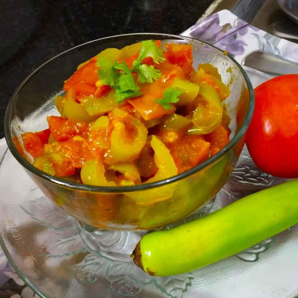How to make Chilli tomato Sabji