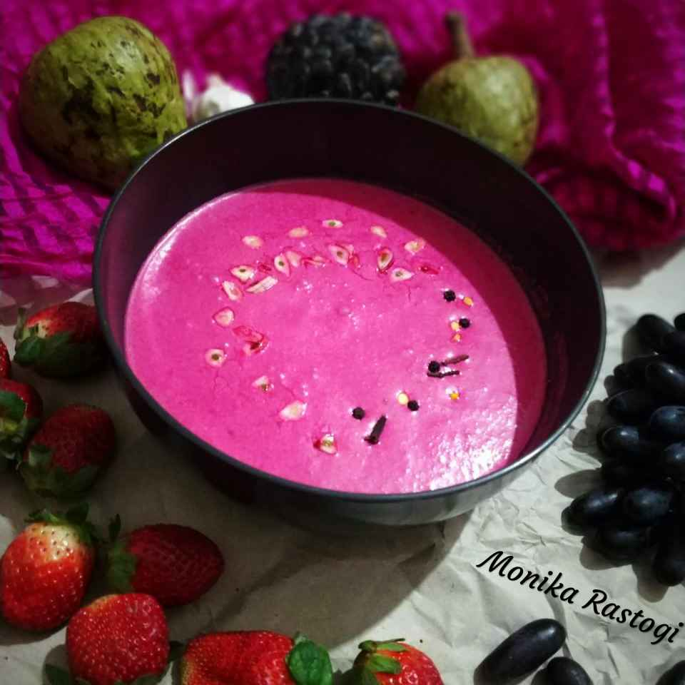 Photo of Beetroot Raita by Monika Rastogi at BetterButter