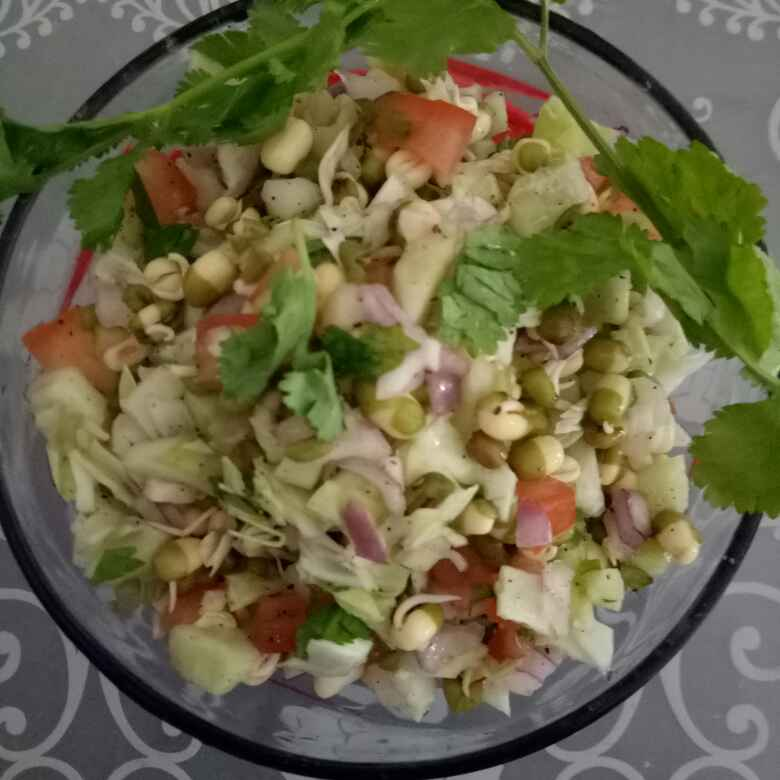 How to make Sprout Moong Salad