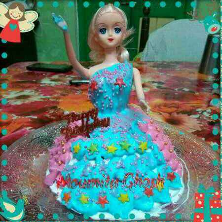 Photo of DOLL CAKE by Moumita Ghosh at BetterButter