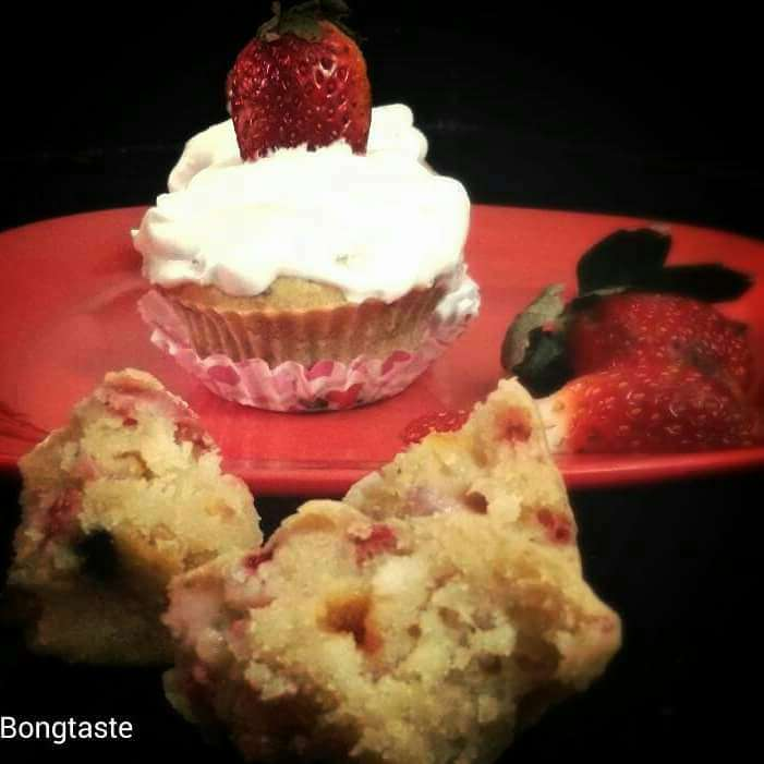 Photo of Strawberry Cup Cake by Moumita Malla at BetterButter