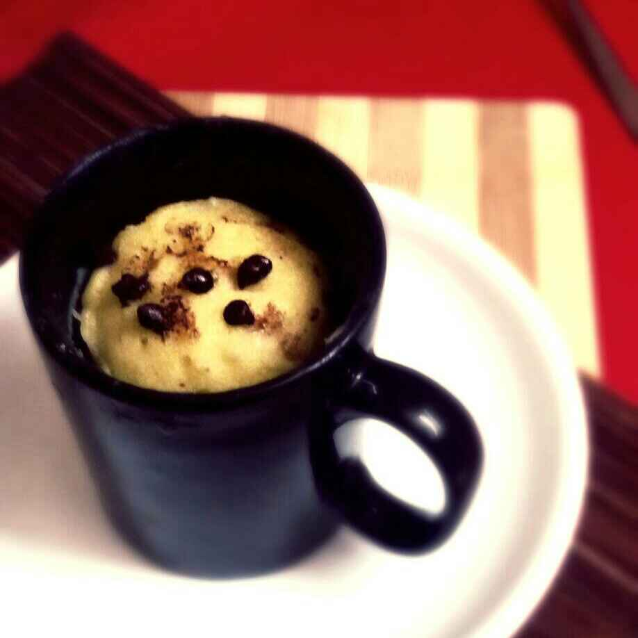 How to make 1 Minute Microwave Banana Mug Cake