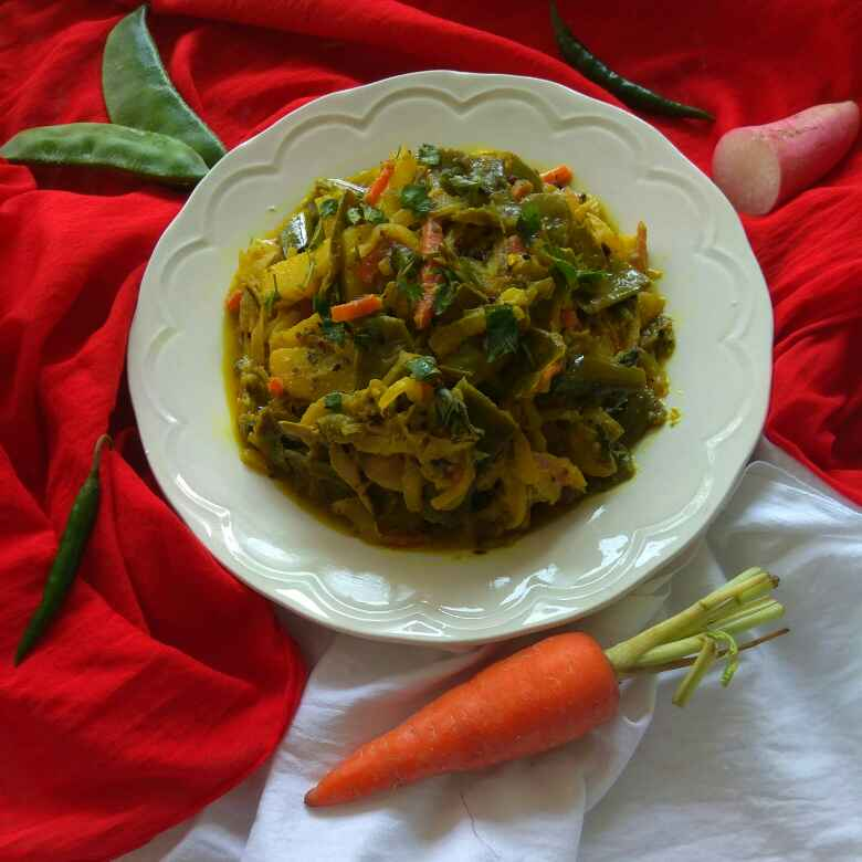 Photo of Winter Special- Spicy Dry Veg Curry by Moumita Nandi at BetterButter