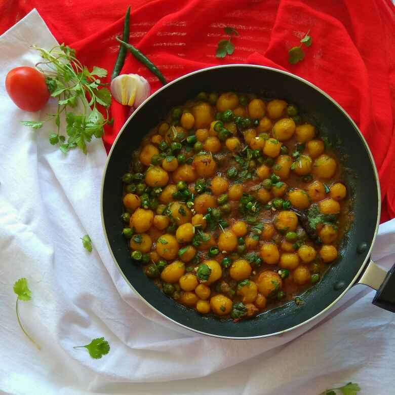 Photo of Baby Potato Curry with Peas by Moumita Nandi at BetterButter