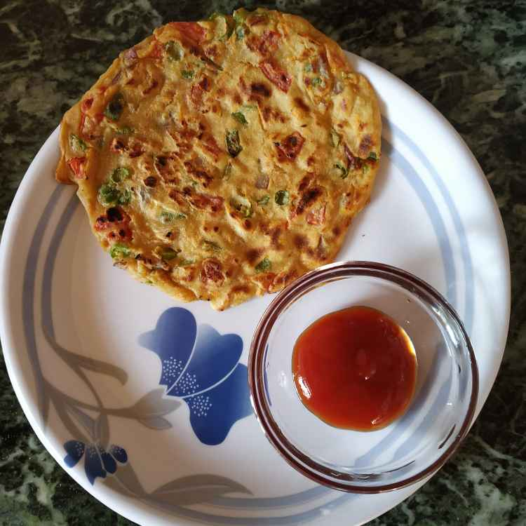 Photo of Atta vegetable pan cake.. by Mousumi Bhattasali at BetterButter