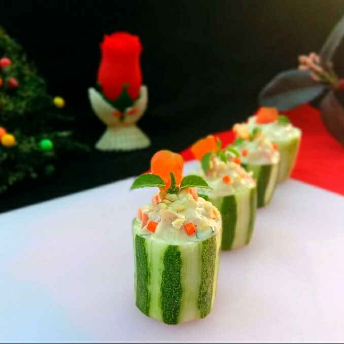 Photo of Cucumber Cups.... by Mousumi Mandal at BetterButter