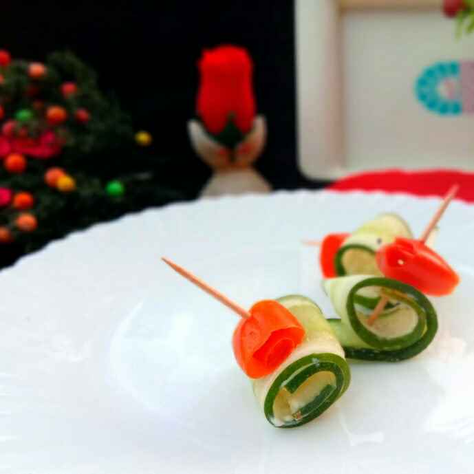 Photo of Cucumber Hummus Appetizer..... by Mousumi Mandal at BetterButter