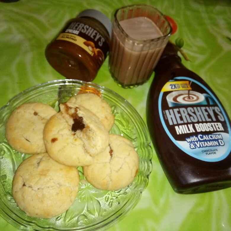 Photo of Stuffed cookies #my Hershey's recipe. by Mrs.Raziya Banu M. Lohani at BetterButter