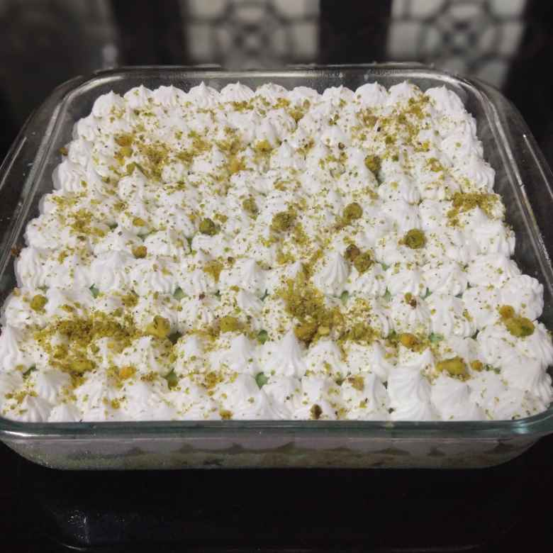 How to make Pista tres leches cake pudding