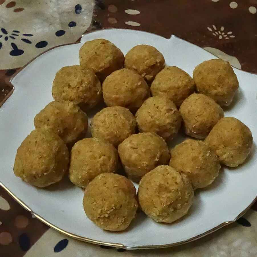 How to make Besan ladoo in microwave