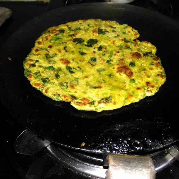 Photo of Matar and methi paratha by Mukti Sahay at BetterButter