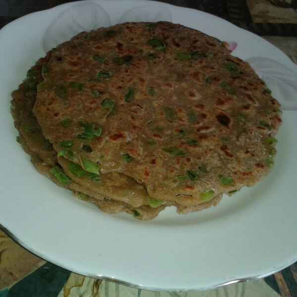 Photo of Shimla mirch and cheese paratha by Mukti Sahay at BetterButter