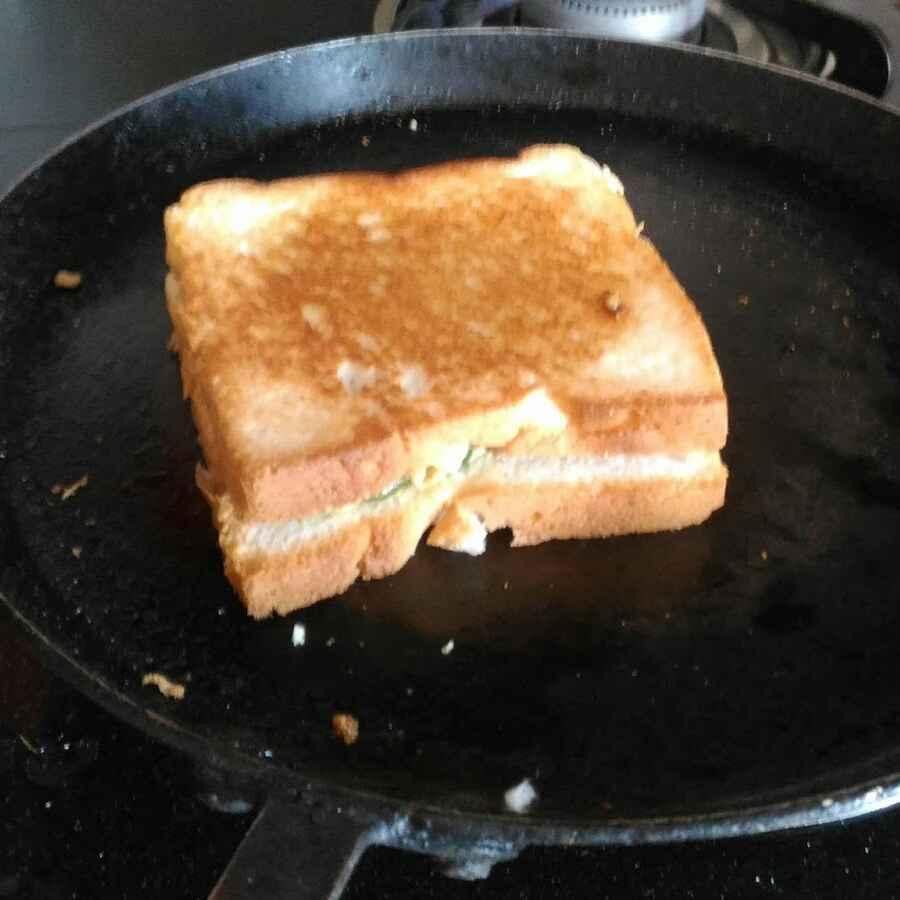 Photo of Egg bhurji sandwich by Mukti Sahay at BetterButter