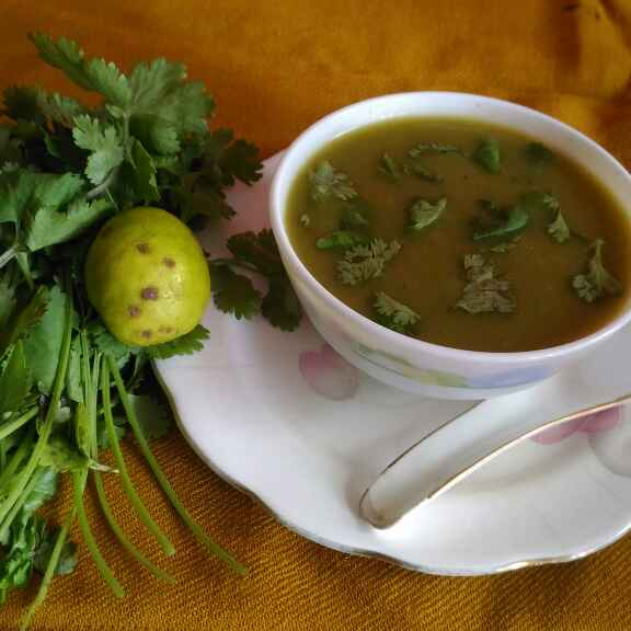 How to make Coriander lemon soup