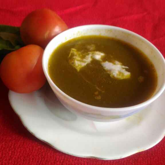How to make Spinach tomato soup