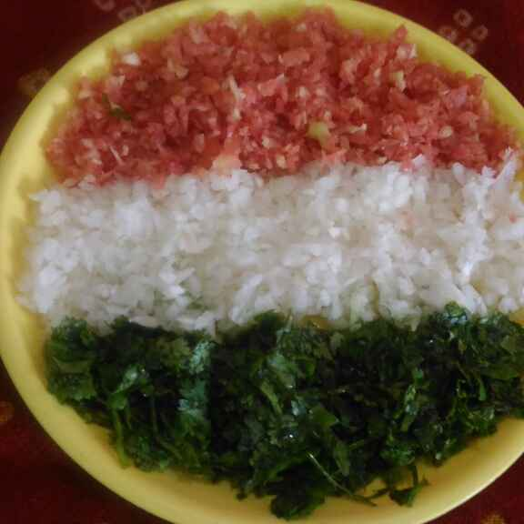 How to make Tri color salad