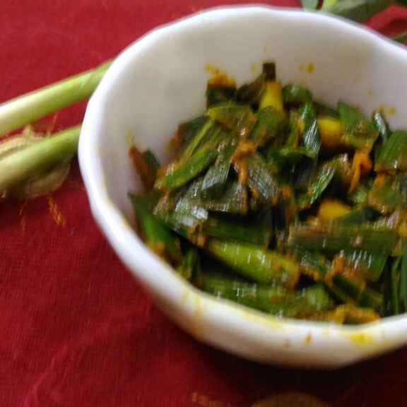 Photo of Green garlic pickle by Mukti Sahay at BetterButter