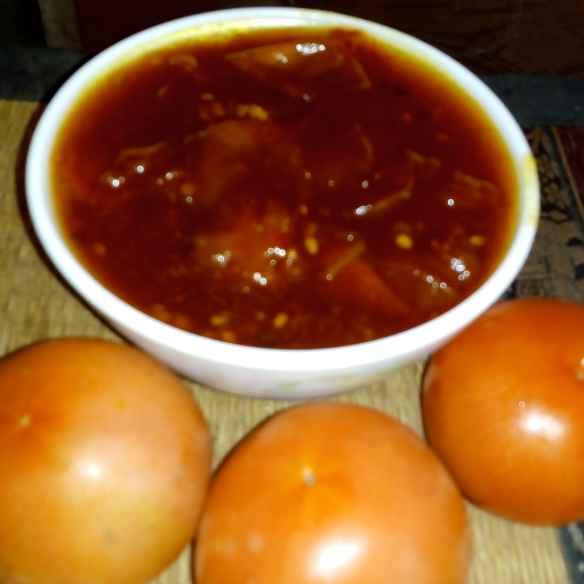 How to make SWEET TOMATO CHUTNEY