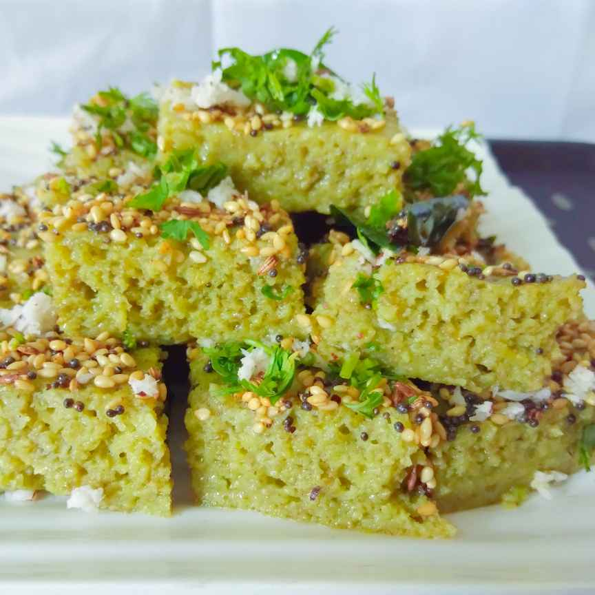 Photo of Instant Green dhokla by Mumma's kitchen at BetterButter