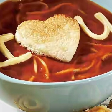 Photo of Valentine Tomato Pasta Soup by Musaffa Heena at BetterButter