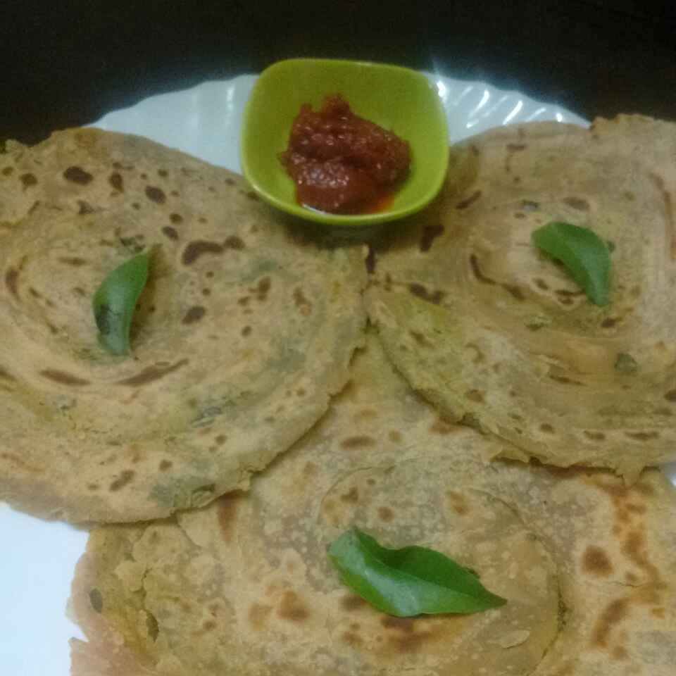 Photo of Curry Leaves Paratha by Muthulakshmi Madhavakrishnan at BetterButter