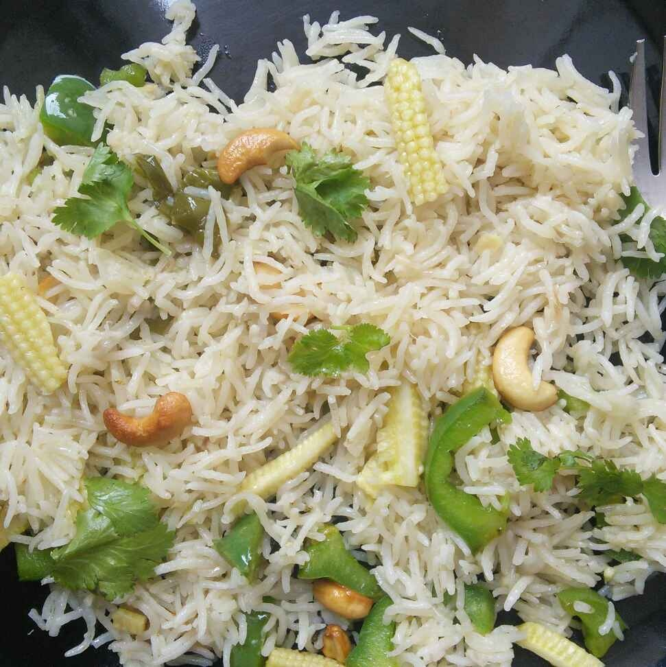 How to make Baby Corn Capsicum Pulav