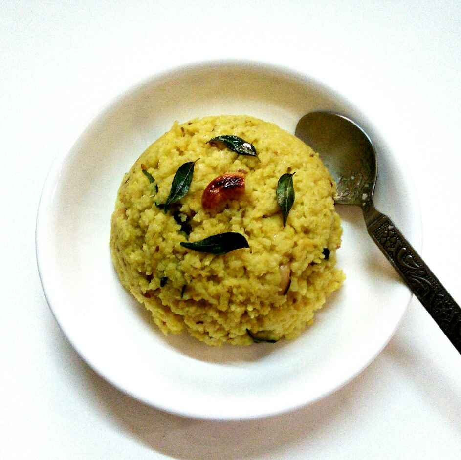 How to make Saamai rice ven pongal
