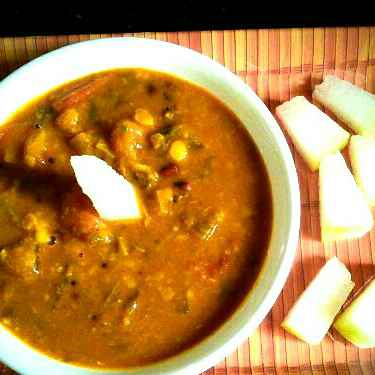 Photo of Ash gourd and lobia sambar by Muthulakshmi Madhavakrishnan at BetterButter