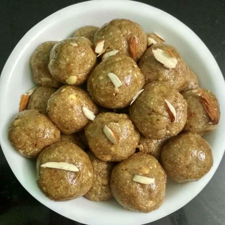 Photo of Badam peanut ladoo by Nagarathinam R at BetterButter