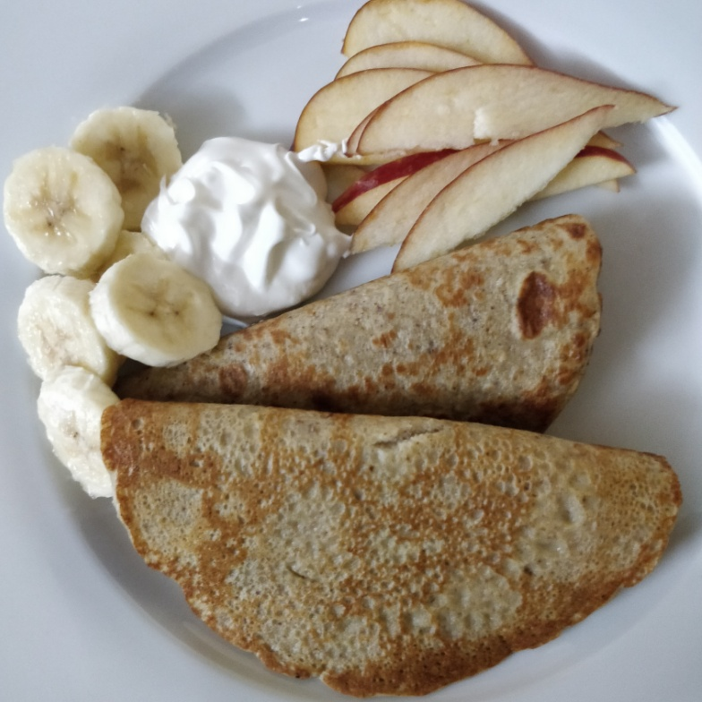 Photo of Multigrain crapes with seasonal fresh fruits and wipped cream by Naginic Chandramouli at BetterButter