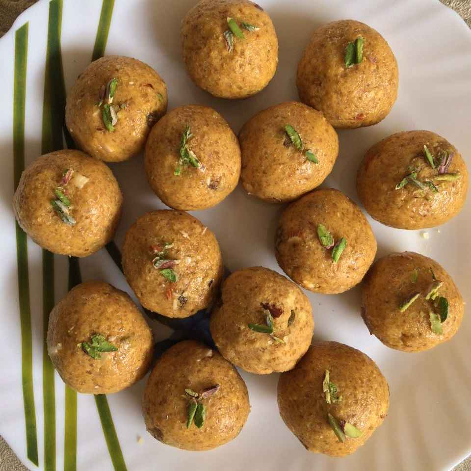 Photo of Besan laddoo.....Janmashtami greetings by Naheed Alam at BetterButter
