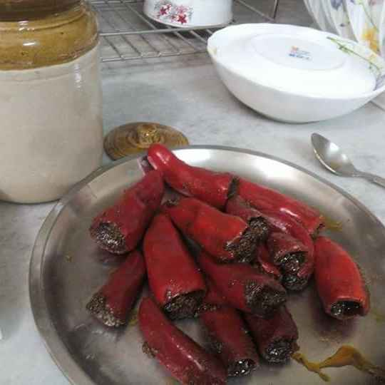 Photo of Stuffed Red Chilli Pickle. by Naheed Alam at BetterButter