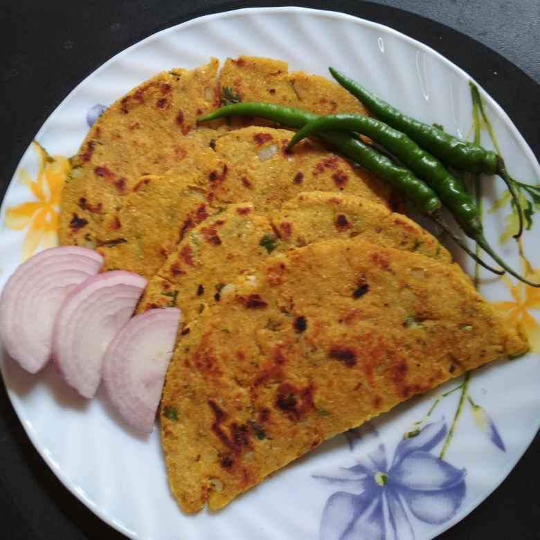 How to make Corn meal_potato flat bread.